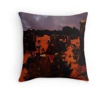 Pinnacles towards sunset Throw Pillow