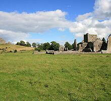 Rock of Cashel from Hore Abbey view 2 by John Quinn