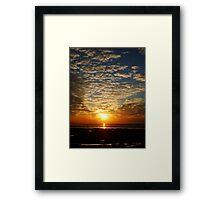 Sunset - Isle of Arran - Scotland Framed Print