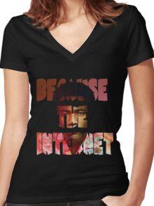 Childish Gambino Because The Internet Album Women's Fitted V-Neck T-Shirt