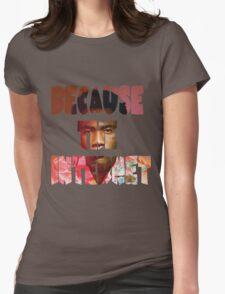Childish Gambino Because The Internet Album Womens Fitted T-Shirt