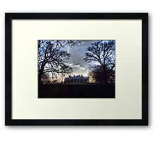 December Twilight at Monticello Framed Print