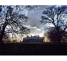 December Twilight at Monticello Photographic Print
