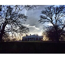 December Twilight at Monticello Photographic Print