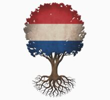 Tree of Life with Dutch Flag Kids Clothes