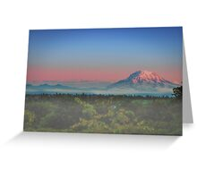 Rainer Sunset Greeting Card