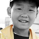 Happy Mongolian Boy by Christopher Meder