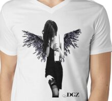 Angel Lady Mens V-Neck T-Shirt