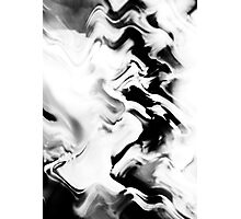 Psychmaster Clean Fire 101 BW Photographic Print