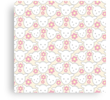 Cute Lamb Pattern for Baby Girl or Kids Canvas Print