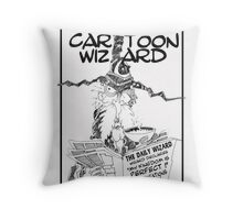 The Cartoon Wizard Throw Pillow