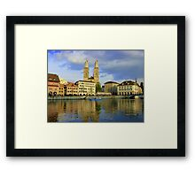 Zurich  - You Touched My Heart Framed Print