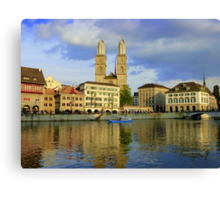 Zurich  - You Touched My Heart Canvas Print