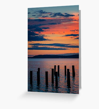 Puget Sound Sunset 2 Greeting Card