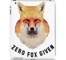 Zero Fox Given iPad Case/Skin