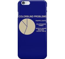 Color blind problems iPhone Case/Skin