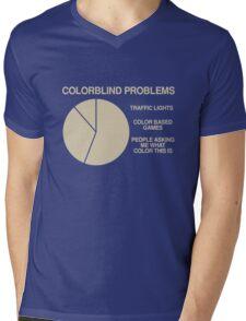 Color blind problems Mens V-Neck T-Shirt