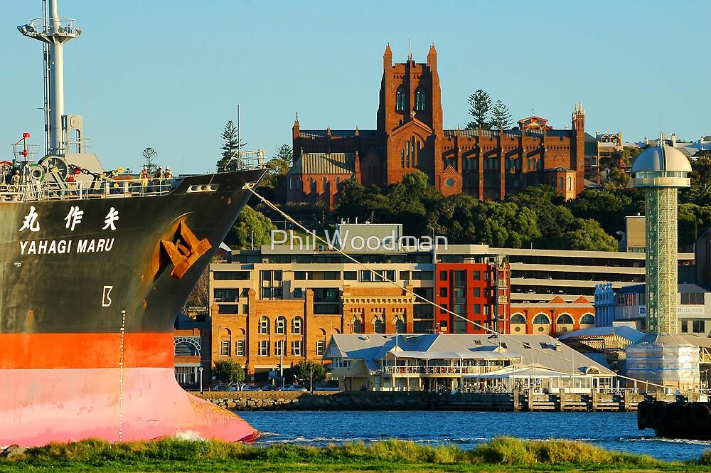 Phil Woodman's Newcastle Harbour - Yahagi Maru by Phil Woodman