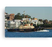 Newcastle Harbour - Svitzer Hamilton Tug Canvas Print