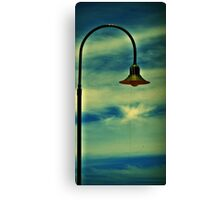 Streetlight at sunset Canvas Print