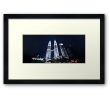 Petronas Panorama Framed Print