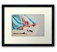tiny toes Framed Print