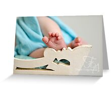 tiny toes Greeting Card