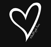 #BeARipple...FOCUS White Heart on Black Womens Fitted T-Shirt