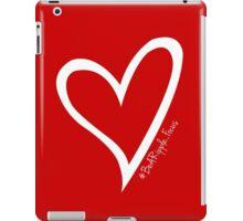 #BeARipple...FOCUS White Heart on Red iPad Case/Skin