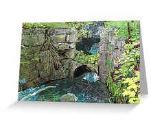 Spillway at the Old Mill Greeting Card