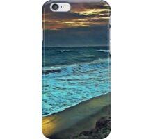 Sunrise and Beach Erosion iPhone Case/Skin