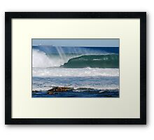 Coal Ships Off Bar Beach NSW Framed Print