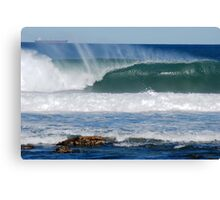 Coal Ships Off Bar Beach NSW Canvas Print