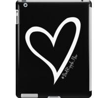 #BeARipple...FLOW White Heart on Black iPad Case/Skin