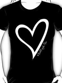 #BeARipple...FLOW White Heart on Black T-Shirt