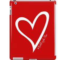 #BeARipple...FLOW White Heart on Red iPad Case/Skin
