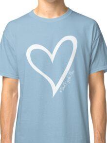 #BeARipple...FLOW White Heart on Red Classic T-Shirt