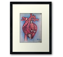 Puzzled Heart Framed Print