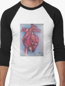 Puzzled Heart Men's Baseball ¾ T-Shirt