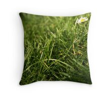 Outsider in a world of GREEN/D Throw Pillow