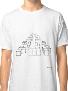 3d Blocks - black Classic T-Shirt
