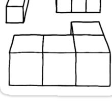 3d Blocks - black Sticker