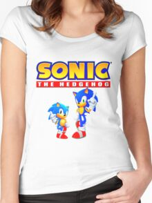 Sonic the hedgehog Women's Fitted Scoop T-Shirt