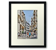Calle Mayor, Cartagena, Spain Framed Print