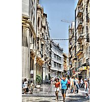 Calle Mayor, Cartagena, Spain Photographic Print