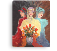 Three Madams of the Wild West Canvas Print