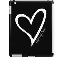 #BeARipple...PEACE White Heart on Black iPad Case/Skin