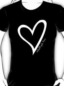 #BeARipple...PEACE White Heart on Black T-Shirt