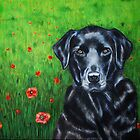 'Poppy' - Labrador Retriever by Michelle Wrighton