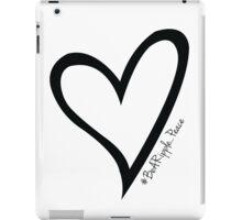 #BeARipple...PEACE Black Heart on White iPad Case/Skin